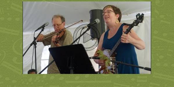 """Annie Patterson performs at the """"Prayers for the Planet"""" interfaith climate service in Northampton MA, June 2017."""