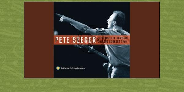 "Pete Seeger leading audience singing ""Summertime"" at Bowdoin College in 1960"